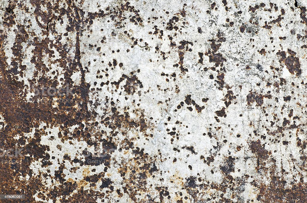 Very rusty and old steel wall royalty-free stock photo