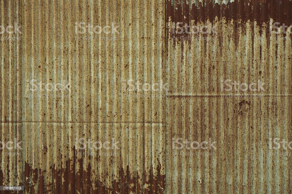 Very rusty corrugated iron royalty-free stock photo
