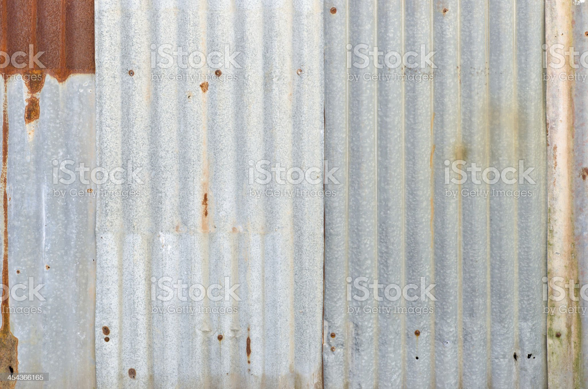 Very rusty old zinc walll royalty-free stock photo