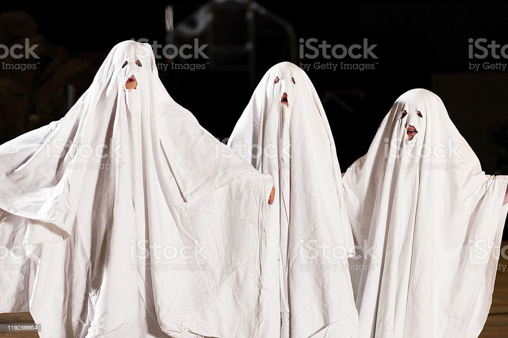 Very scary spooks on Halloween stock photo
