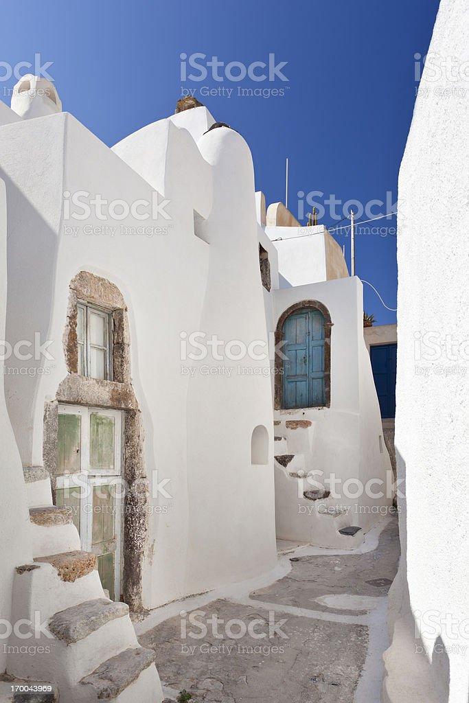 Very Small Doors In Emborio, Santorini royalty-free stock photo