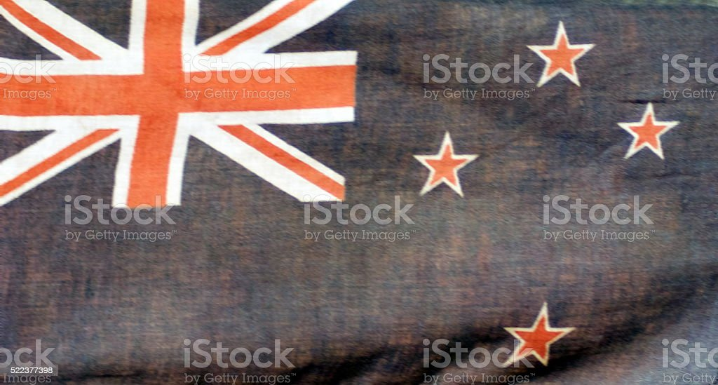 Very Soft Focus Very Old New Zealand Flag Background stock photo