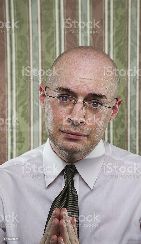 Very Sweaty Businessman stock photo