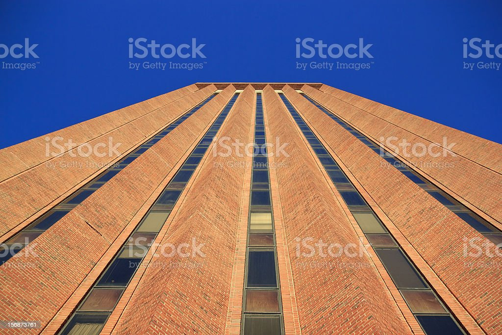 Very Tall UMass Amherst Library stock photo