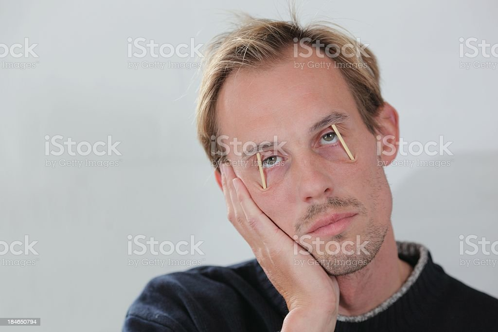 Very tired man royalty-free stock photo