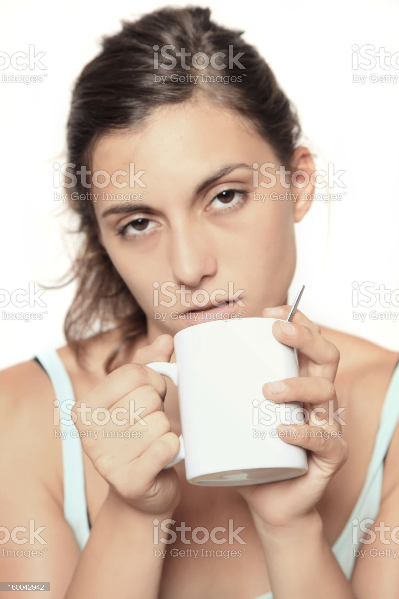 very tired royalty-free stock photo