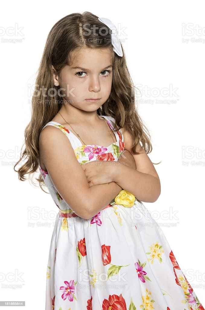 Very upset child royalty-free stock photo