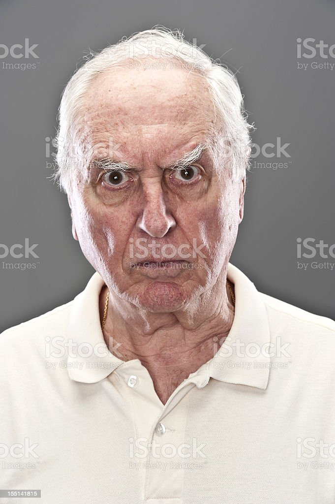 Very upset Senior Man (real people) stock photo