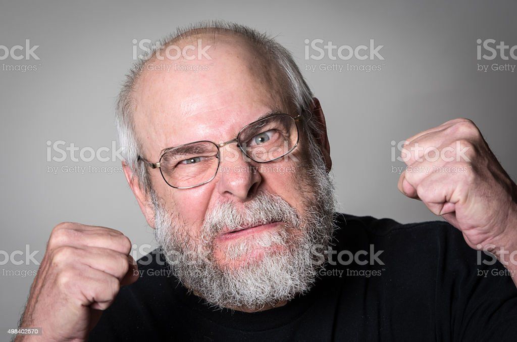 Very Upset Senior man stock photo