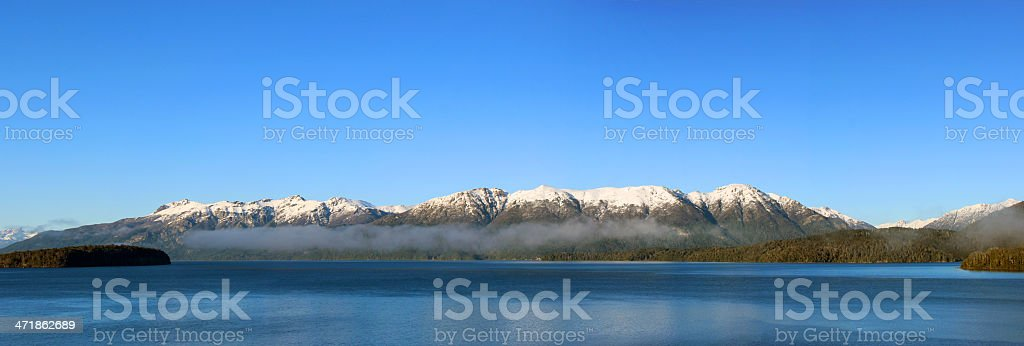 Very wide panorama picture of the Andes mountains - Patagonia royalty-free stock photo