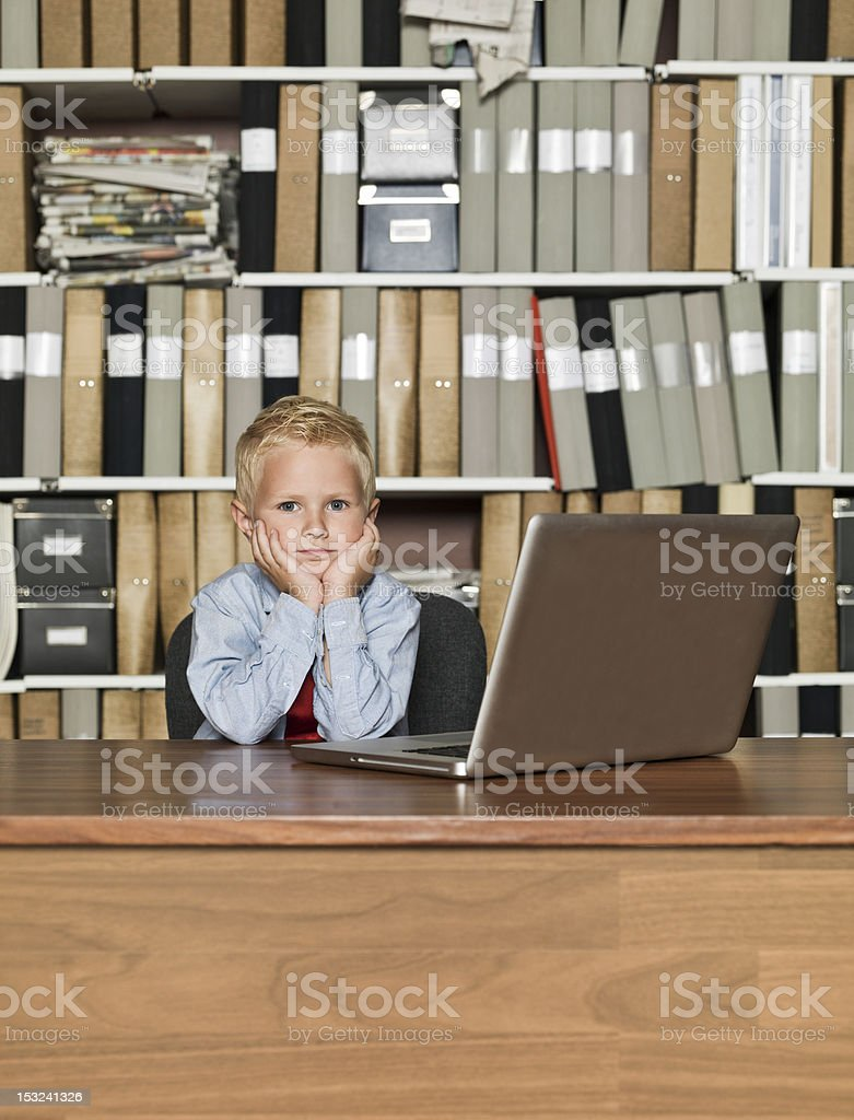 Very young Businessman royalty-free stock photo