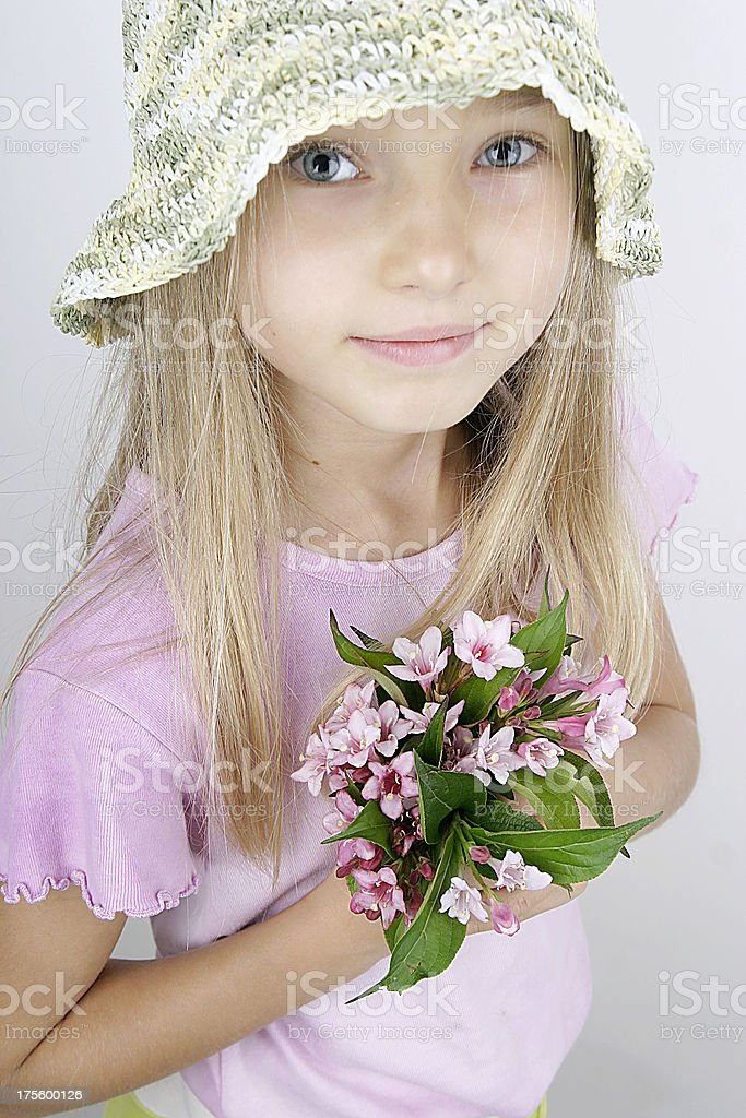 very young girl stock photo