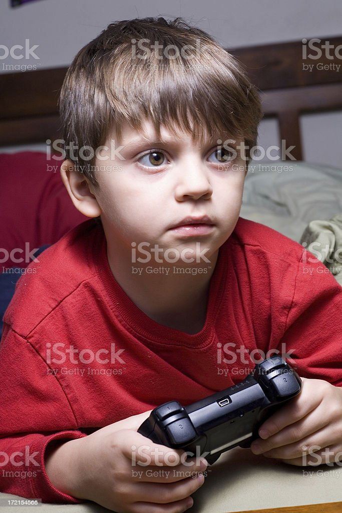 Very Young Video Game Player royalty-free stock photo