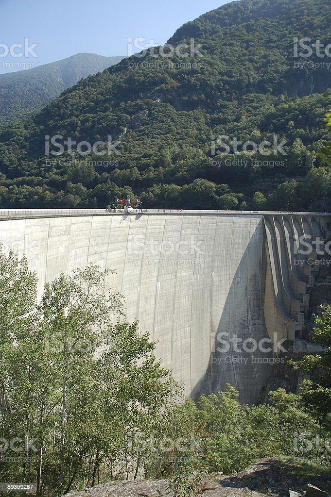 Verzasca concrete dam stock photo