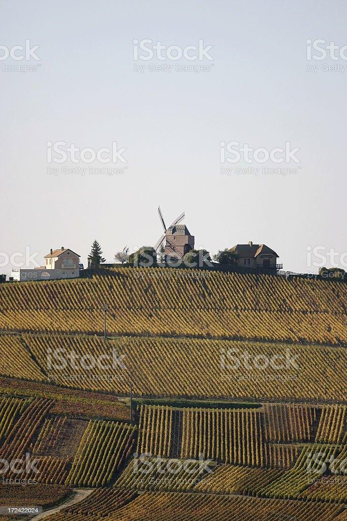 Verzenay Windmill, Champagne royalty-free stock photo