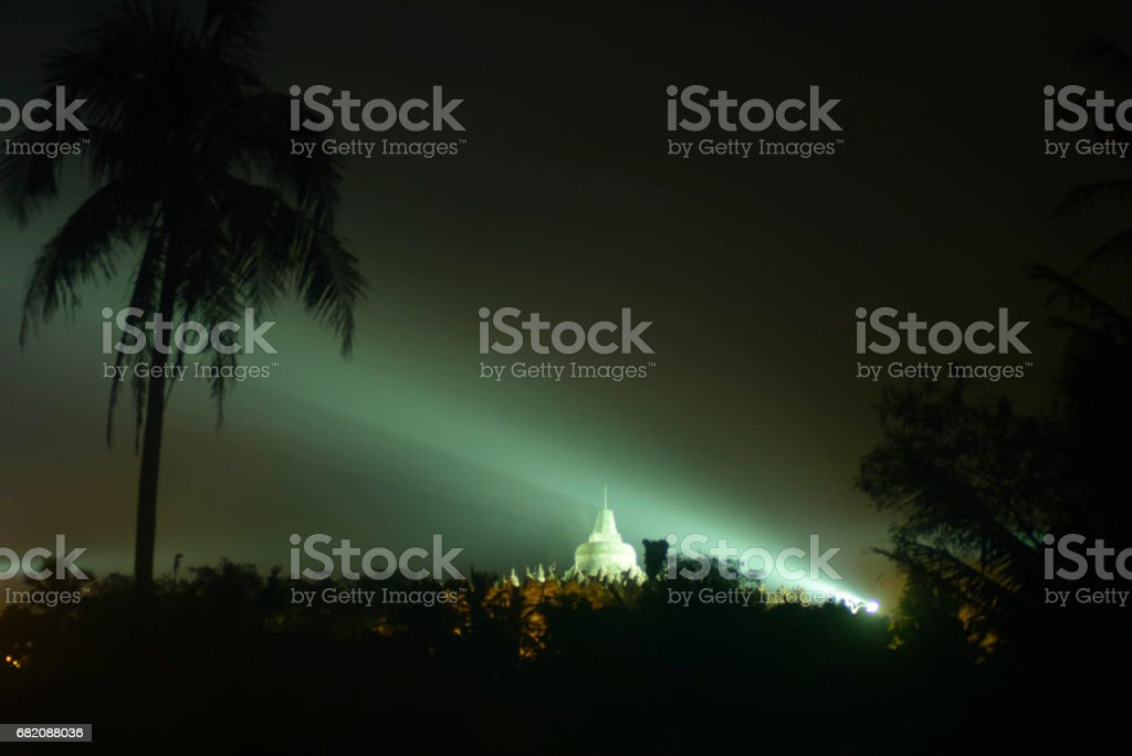 Vesak celebration in Borobudur stock photo