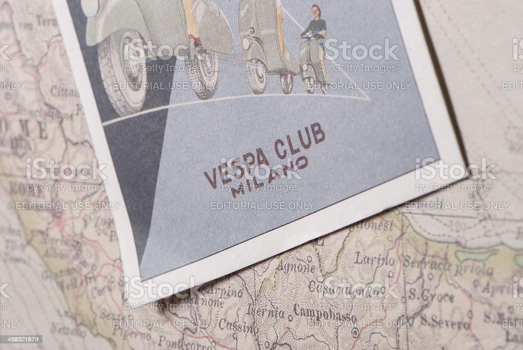 Vespa Club Milano royalty-free stock photo