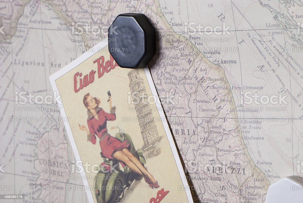 Vespa Postcards royalty-free stock photo