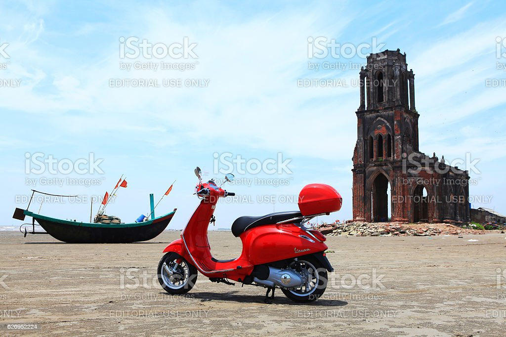 Vespa Sprint all new motorcycle stock photo