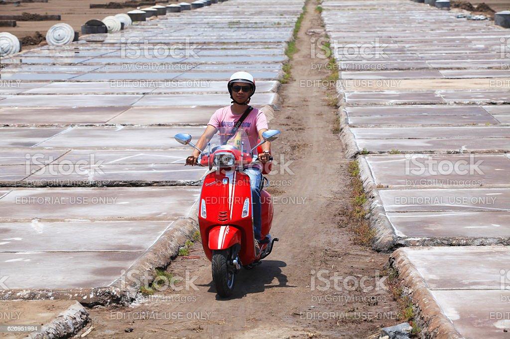 Vespa Sprint motorcycle stock photo