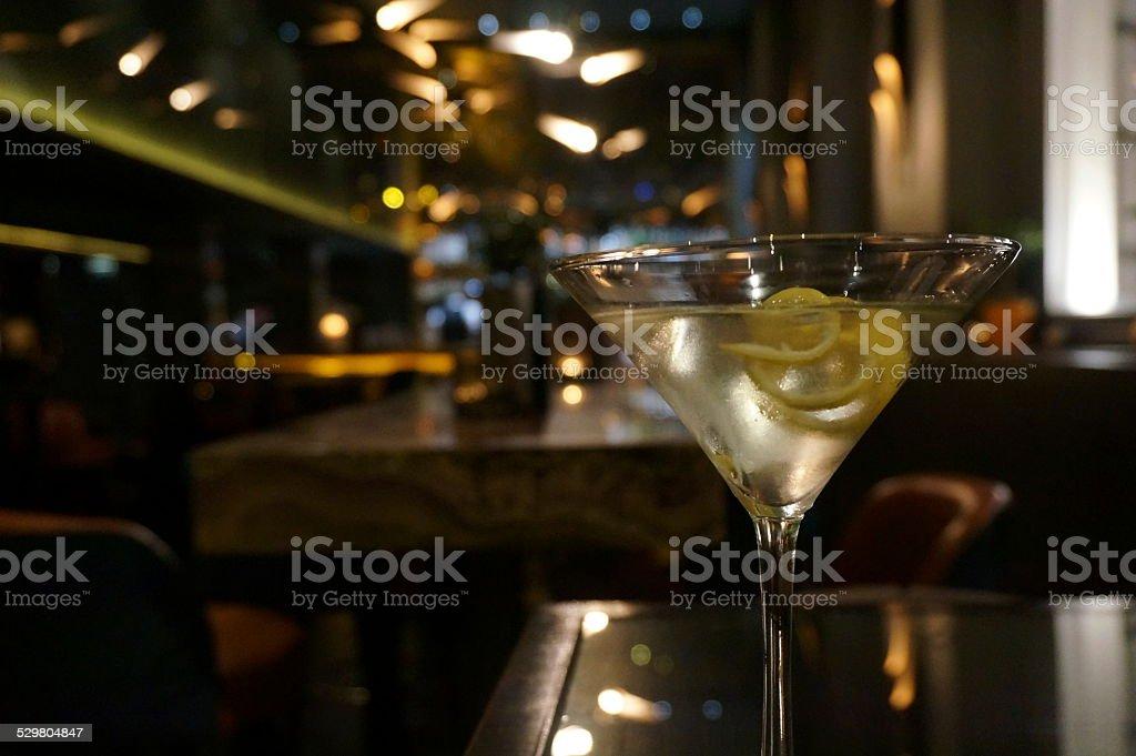 Vesper Martini cocktail stock photo