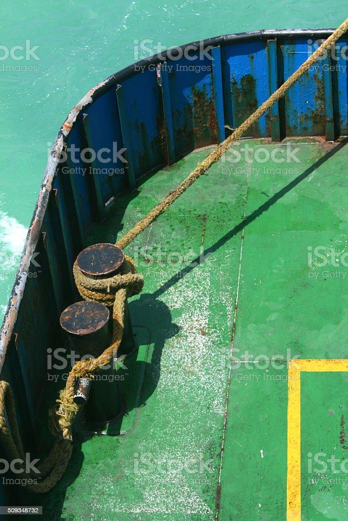 vessel deck stock photo