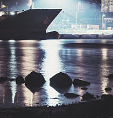 Vessel Docked in Harbour