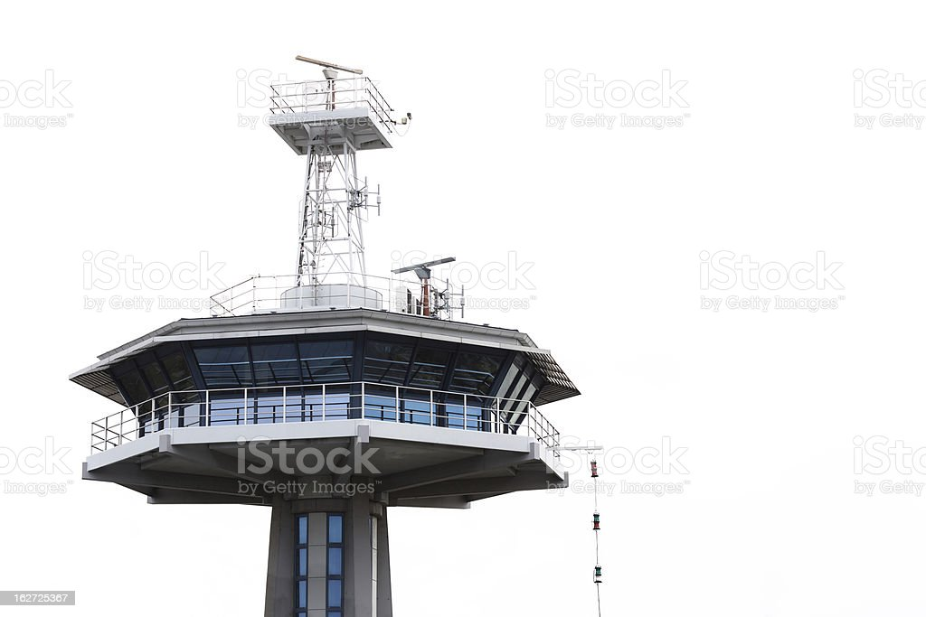 Vessel Traffic Services, Travemuende (Hanseatic City of Luebeck) royalty-free stock photo