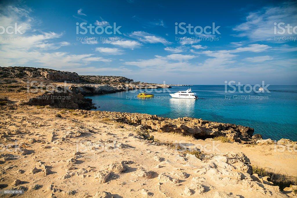 vessels in the park Cape Greko stock photo