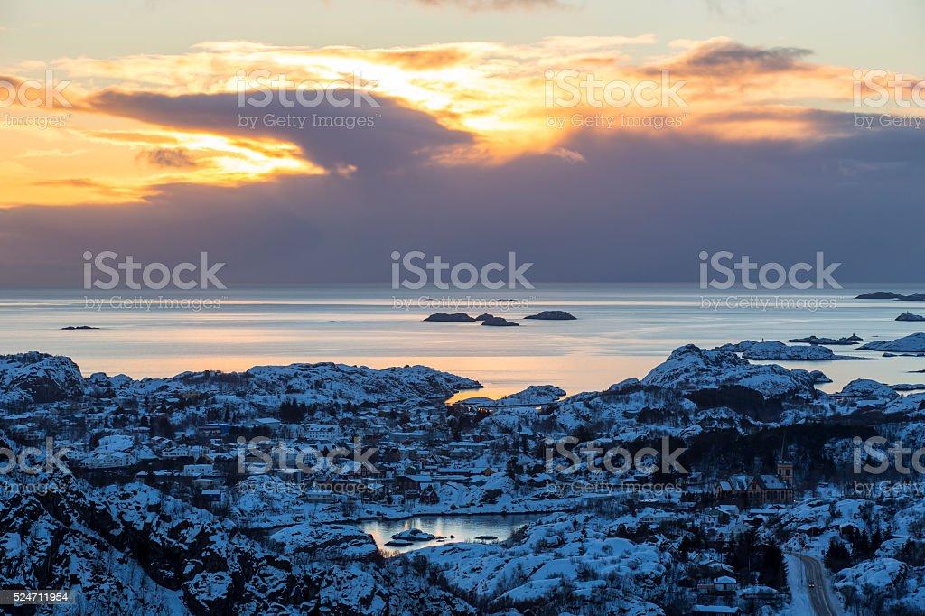 Vestfjord coastal area stock photo