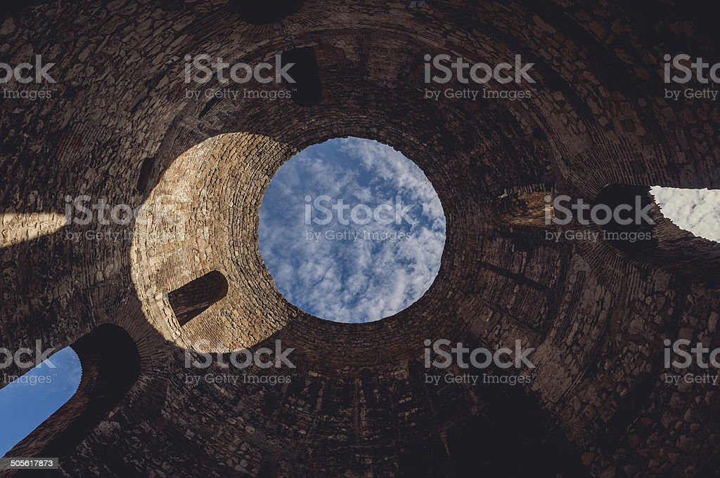 Vestibule of Diocletian's Palace stock photo