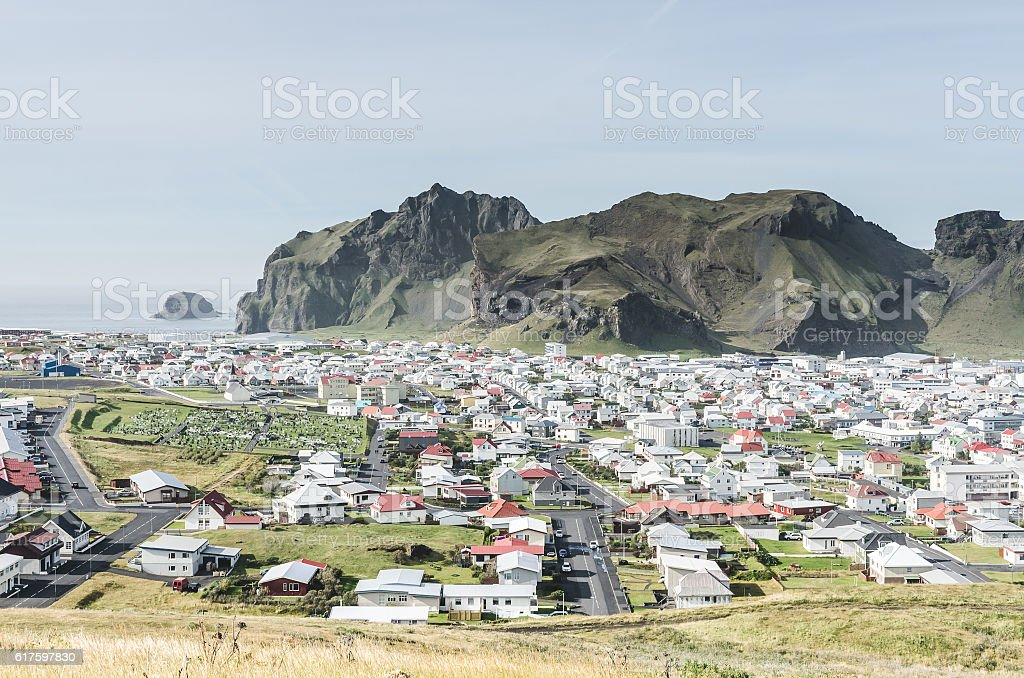 Vestmannaeyjar island, Iceland stock photo