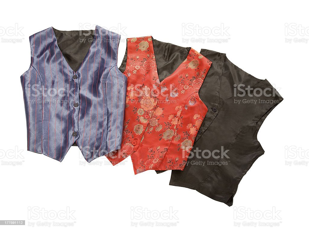 Vests still life fashion composition royalty-free stock photo