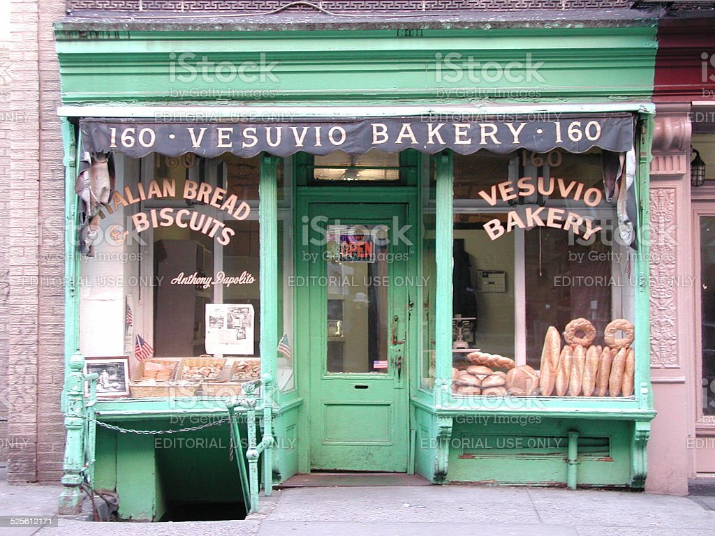 Vesuvio Bakery SOHO NYC stock photo
