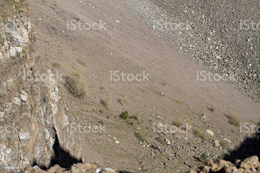 Vesuvius north wall of volcanic crater stock photo