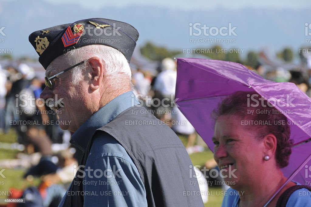 WWII veteran and wife royalty-free stock photo