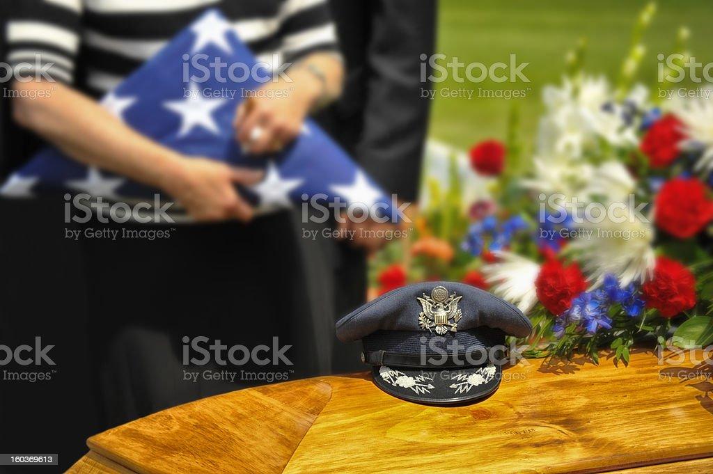 WWII Veteran Funeral stock photo