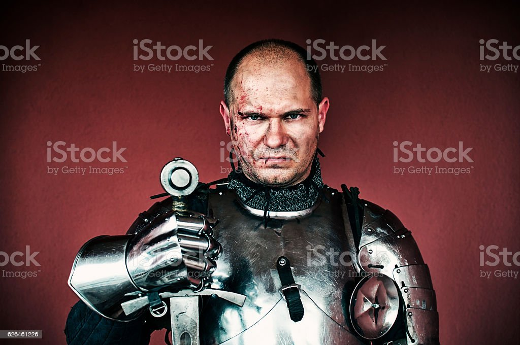 Veteran knight stock photo