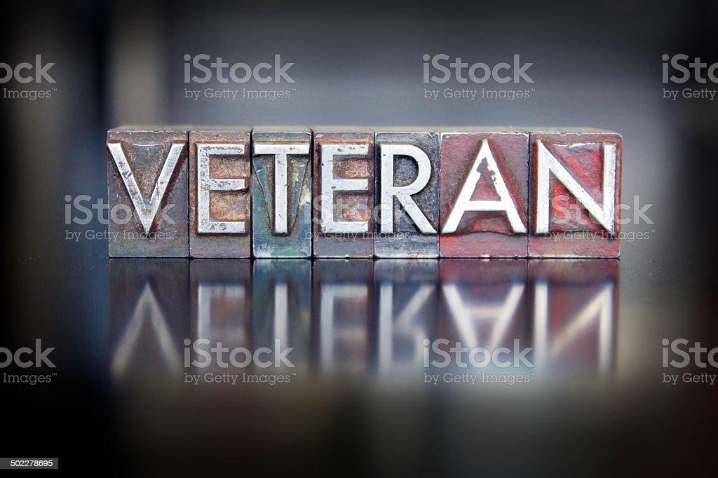Veteran Letterpress stock photo