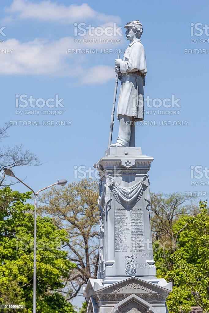 Somerset country Pennsylvania, USA- May 19, 2014. Veteran monume stock photo