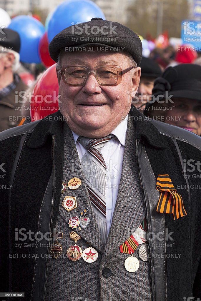 Veteran of the second World war II royalty-free stock photo