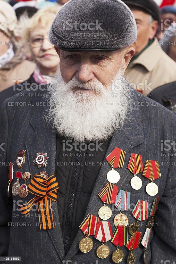 Veteran of the second World war II stock photo