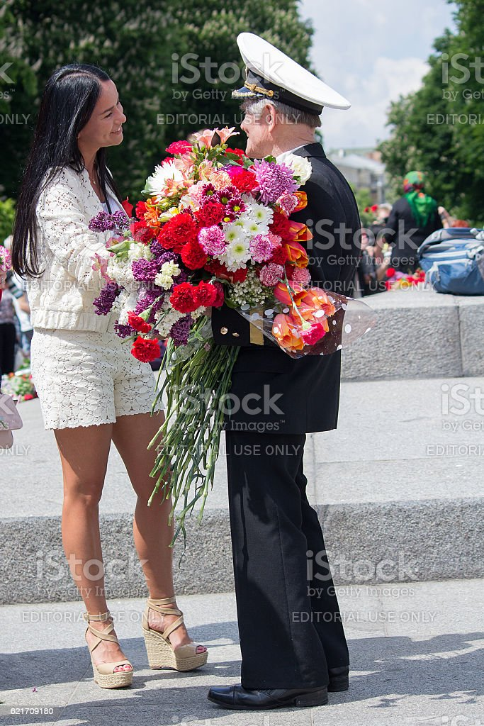 Veteran of the Second World War. Kiev, Ukraine stock photo