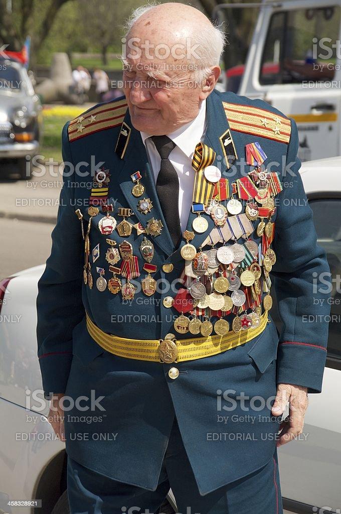 veteran of the World War II royalty-free stock photo
