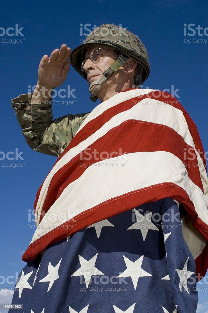 Veteran Patriot stock photo