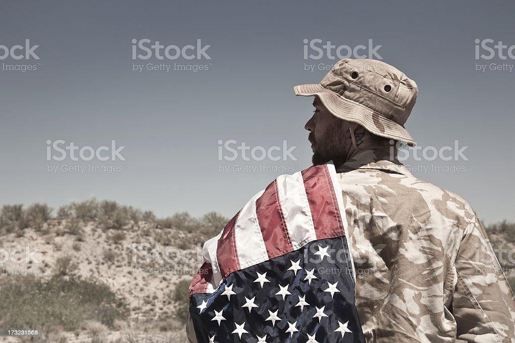 US Veteran royalty-free stock photo
