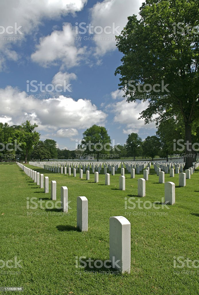 U.S. Veterans' Cemetery royalty-free stock photo