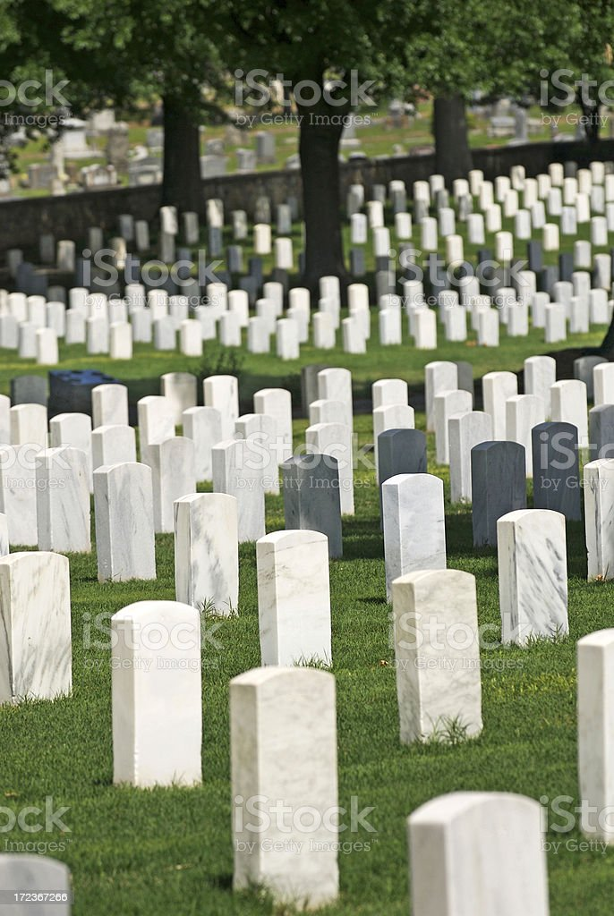 Veterans' Cemetery royalty-free stock photo