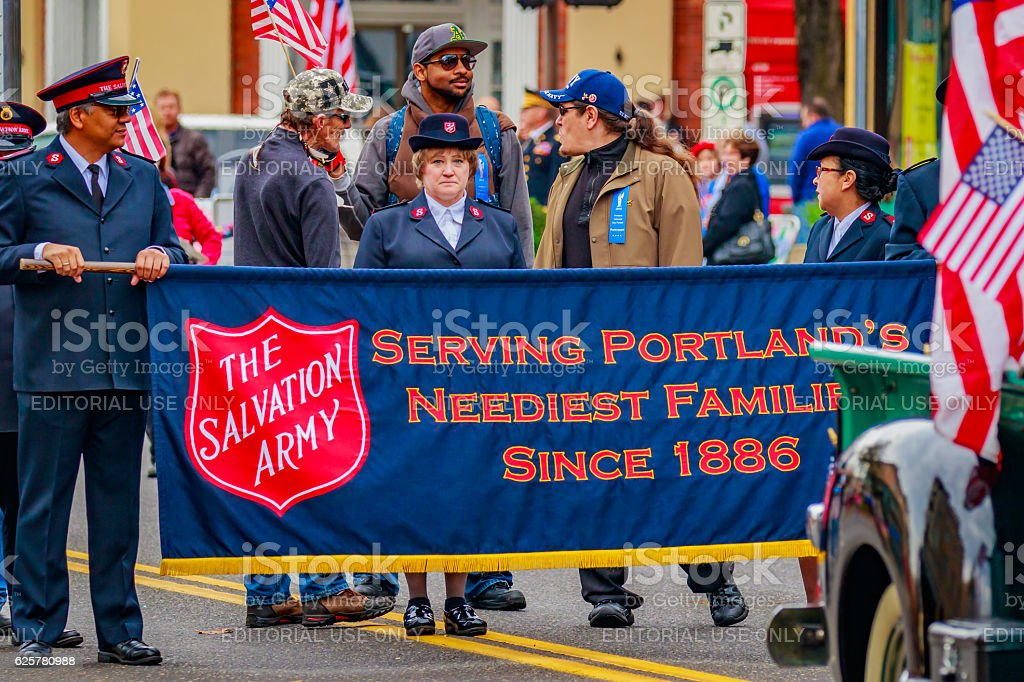 Veterans Day Parade 2016 stock photo