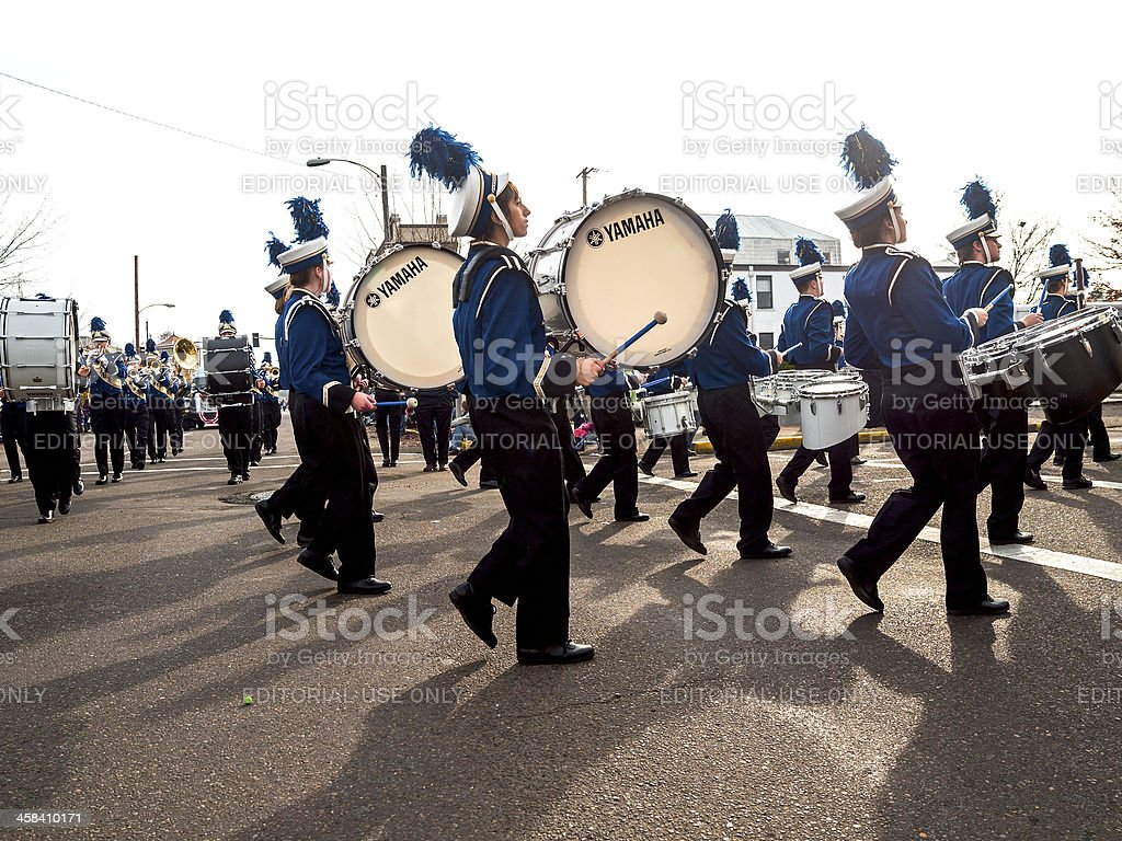 Veterans Day Parade Oregon West Albany High School Marching Band stock photo